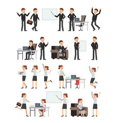different business peoples male and female in vector image