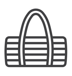 Fitness bag line icon fitness and sport vector