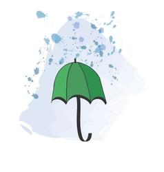 Green umbrella vector image