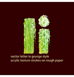 grungy letter I vector image