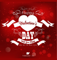 happy valentines day background with party poster vector image