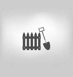 icon fence fencing vector image vector image