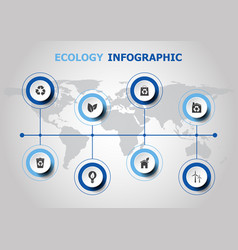infographic design with ecology icons vector image vector image