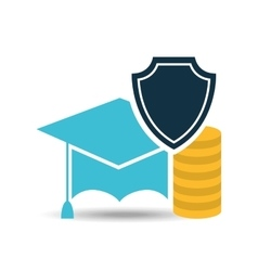 Insurance education money protection design vector
