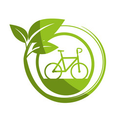 Isolated bicycle round icon vector