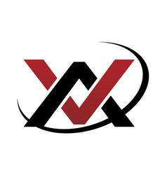 Letter av modern logo vector