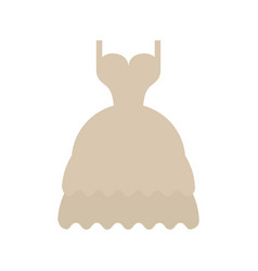 Long layered dress with cleavage and straps icon vector