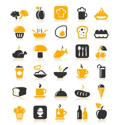 Meal Food Icons vector image vector image