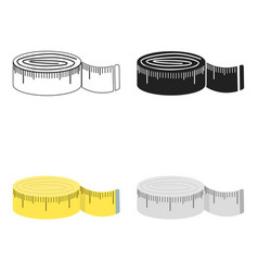 measuring tape icon of for web vector image