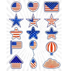 Object set of 4th July Independence day EPS10 vector image vector image