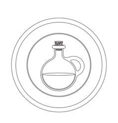 Olive oil food vector