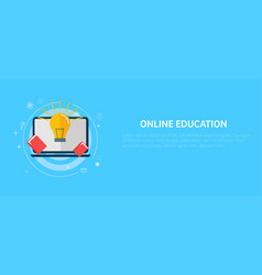 online education banner vector image