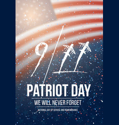 Patriot day poster september 11th 2001 tragedy vector