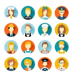 Profession avatar on circles vector image