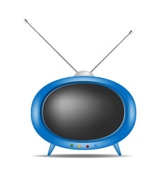 Retro tv in blue design vector