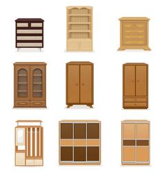 set wardrobe vector image vector image