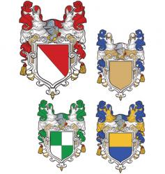 shields emblems vector image