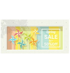 Spring sale window display vector
