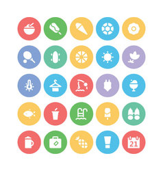 Summer icons 3 vector