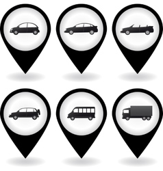 transport set of car icon vector image vector image