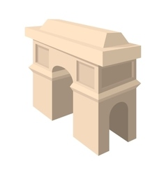 Triumphal arch icon cartoon style vector