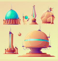 unidentified space objects ufo space ships of vector image
