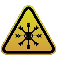 warning sign of snow vector image vector image