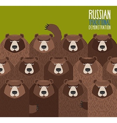 Russian national demonstration bears came out on vector
