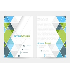 Business flyer template brochure or corporate vector image
