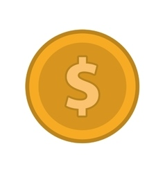 Coin cash money design vector