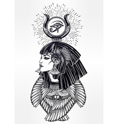 Portrait of a beautiful egyptian goddess vector