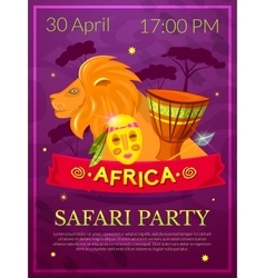 Safari party vector