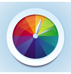 Rainbow watches - abstract icon vector
