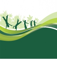 children woodland vector image