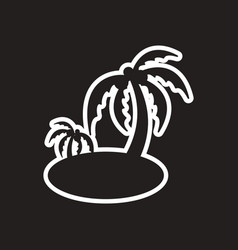 stylish black and white icon indian palm vector image