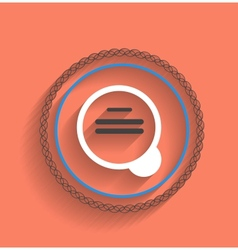 Zoom icon modern flat design vector