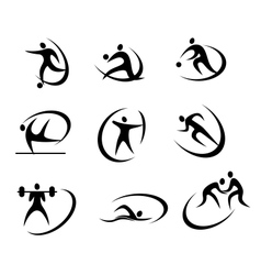 Different kinds of sports symbols vector