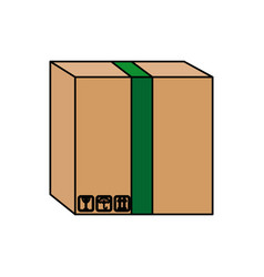 Carton container cardboard box pack closed package vector