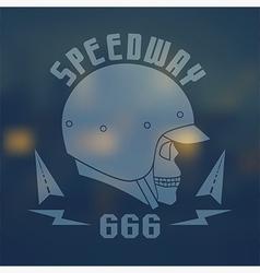 Speedwey 666 flat emblem vector image