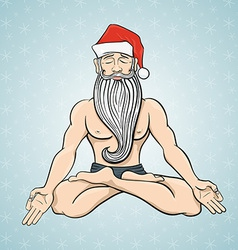 Yogin santa vector