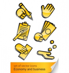 economic and business icon vector image