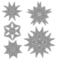 Beautiful pattern flower elements vector