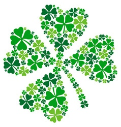 4 leaf clover lucky clover for St Patricks day vector image
