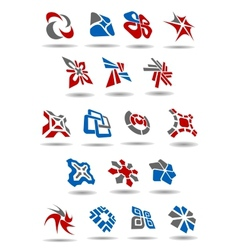 Geometric abstract icons and emblems for business vector