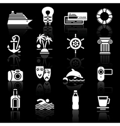 Recreation icons set vector
