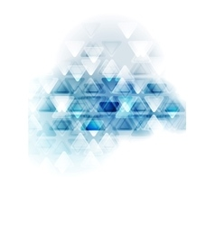 Blue white tech triangles design vector