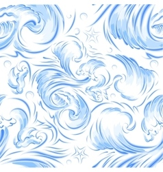 Blue sea wave seamless background texture vector