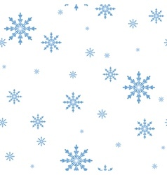 Seamless pattern of the snowflakes celebratory bac vector