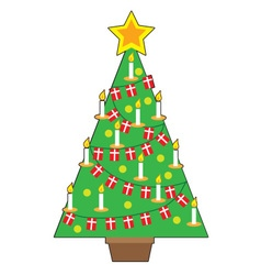 Danish christmas tree vector