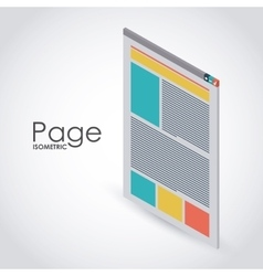 Isometric page icon design vector